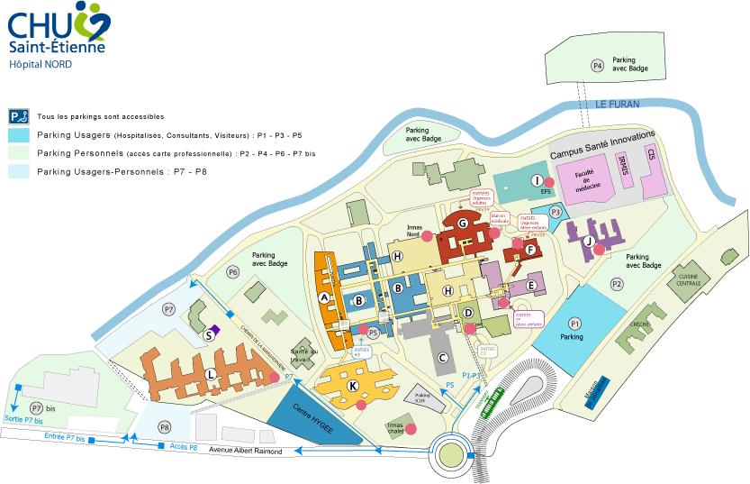 plan CHU de Saint-Etienne