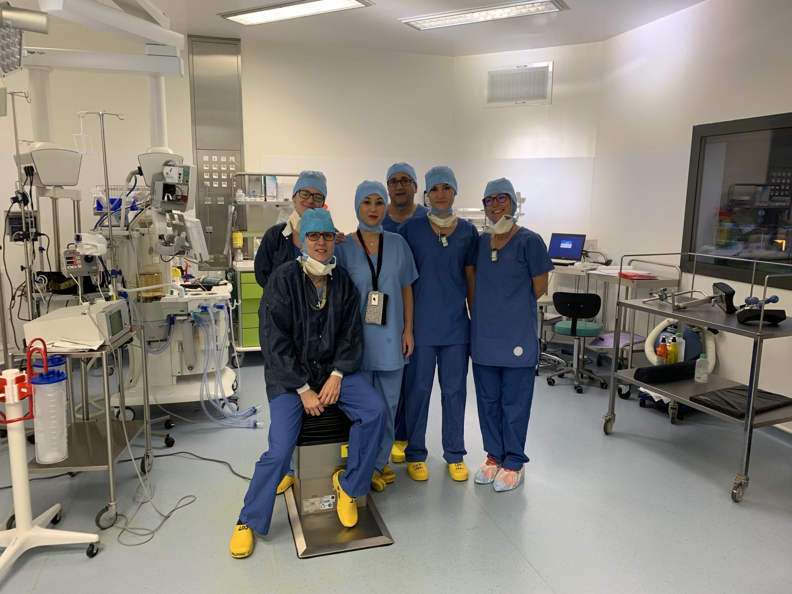 équipe du bloc orthopédie CHU de Saint-Etienne