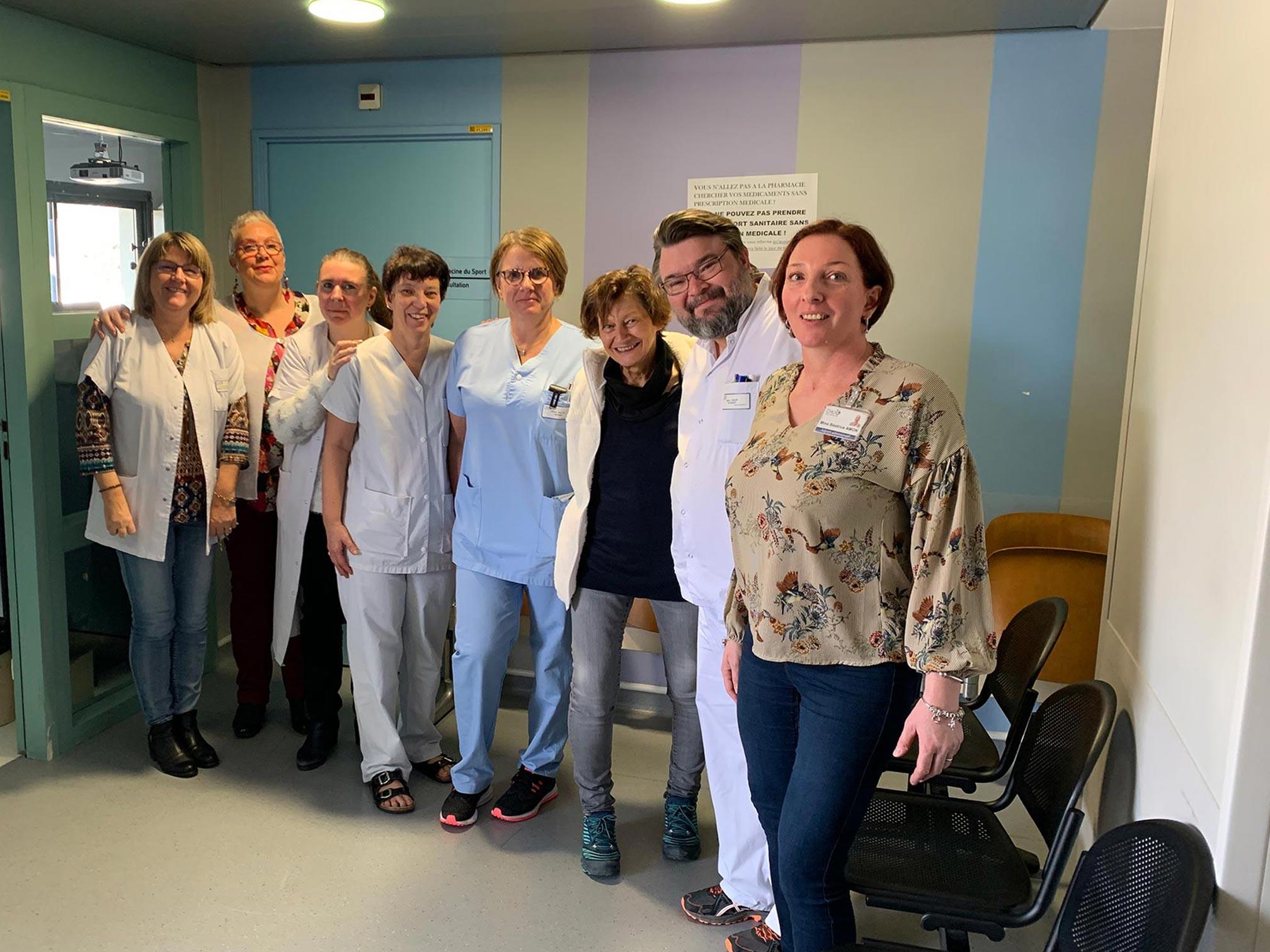 équipe de la consultation orthopédie du CHU de Saint-Etienne