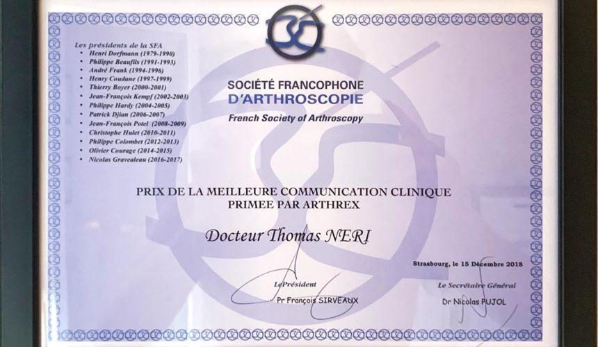 Prix de la meilleure communication clinique