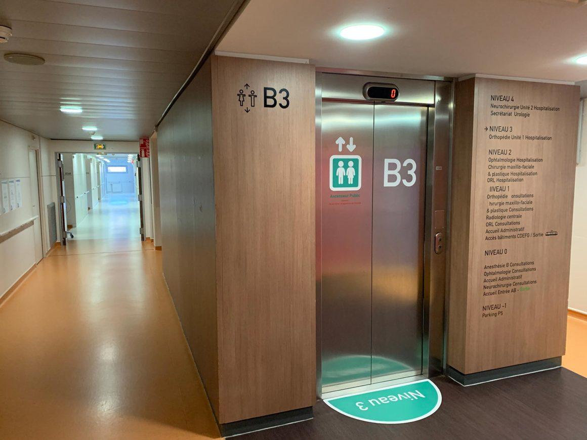 ascenseur hospitalisation CHU de Saint-Etienne