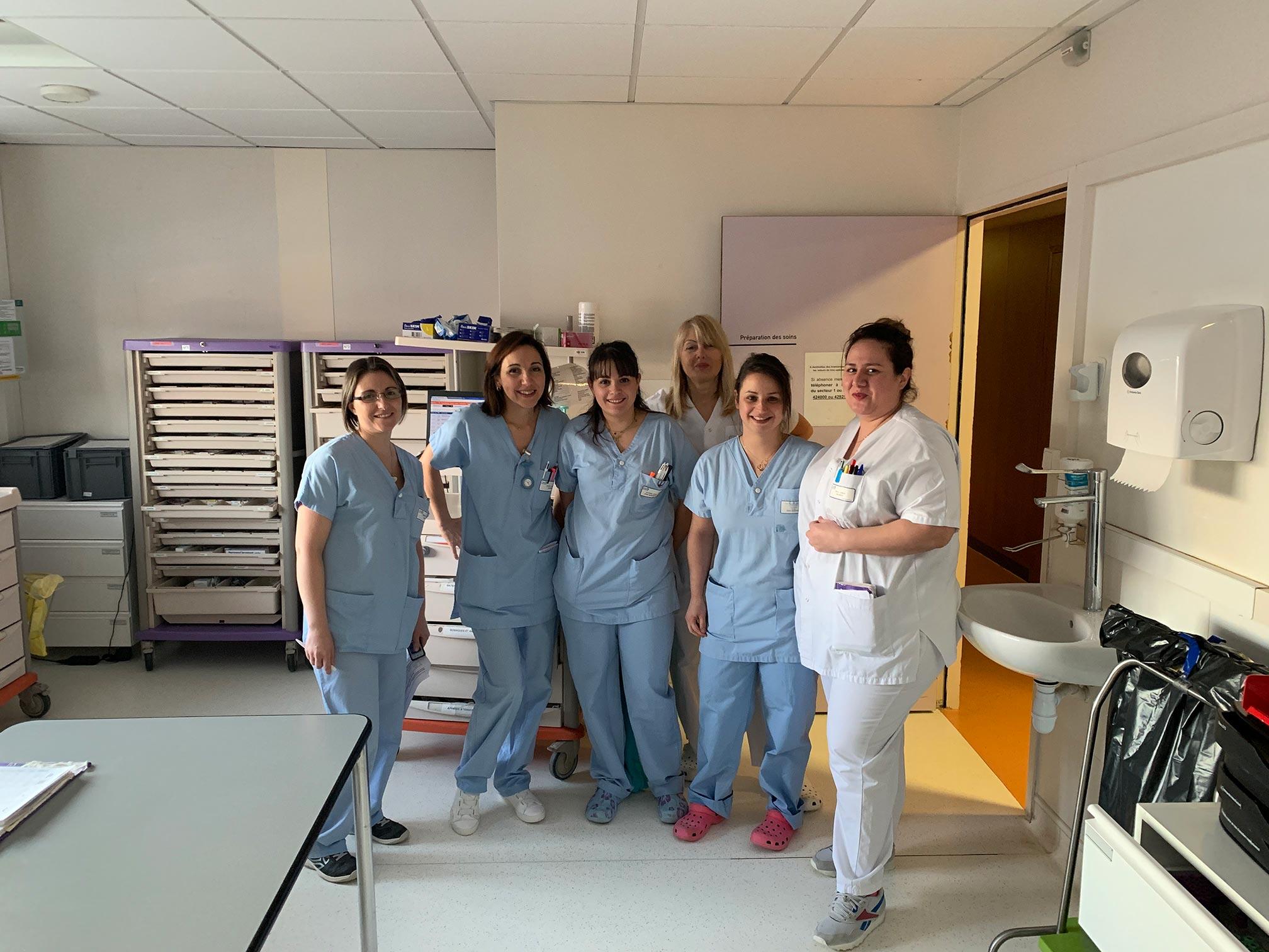 équipe hospitalisation complète orthopédie CHU de Saint-Etienne