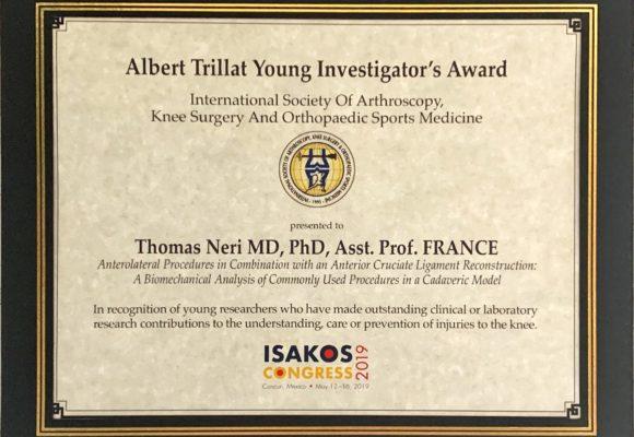 Albert Trillat Young Investigator's Award Thomas Neri
